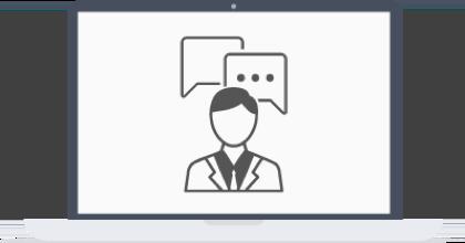 Mitarbeiter des Support Teams sind auf Ihrem Gerät rund um die Uhr per Live-Chat verfügbar.