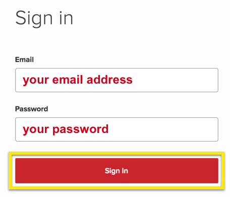 "ExpressVPN sign-in page with ""Sign In"" button highlighted"