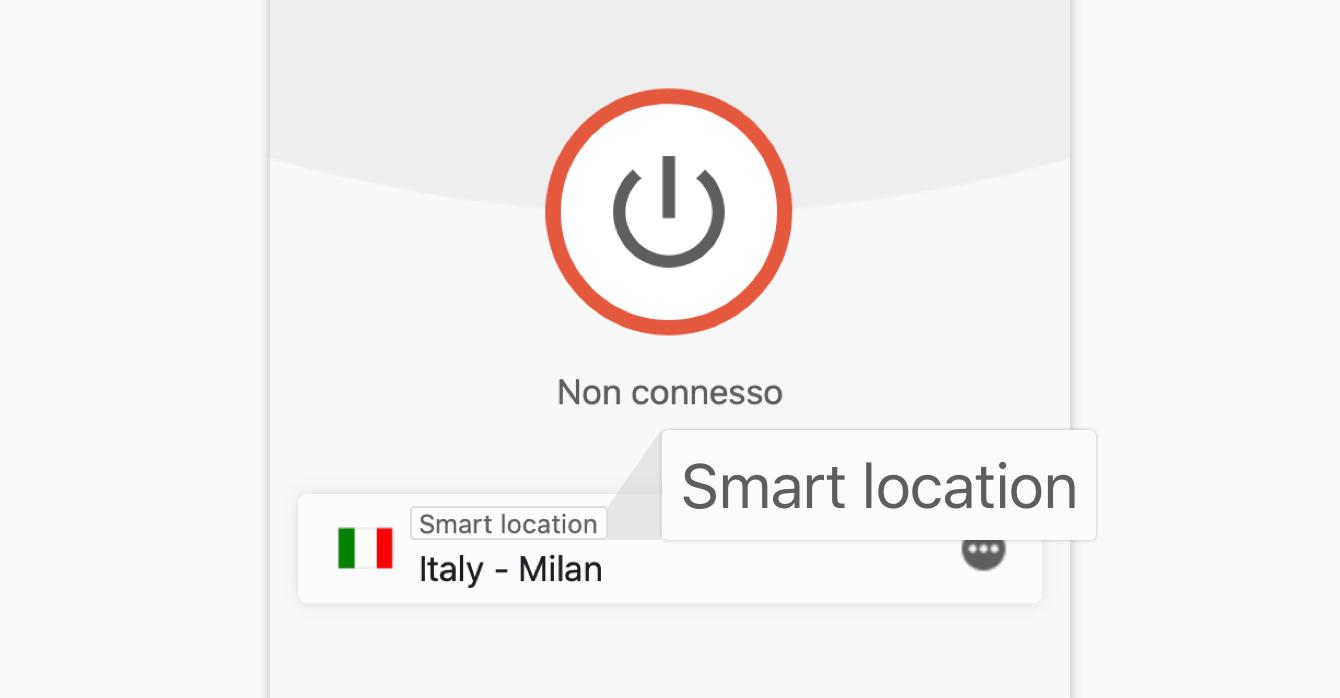 La funzione Smart Location consiglia automaticamente la migliore posizione per te.