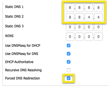 dd-wrt static dns settings