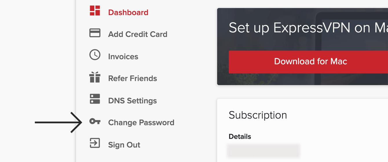 "Click ""Change Password."""