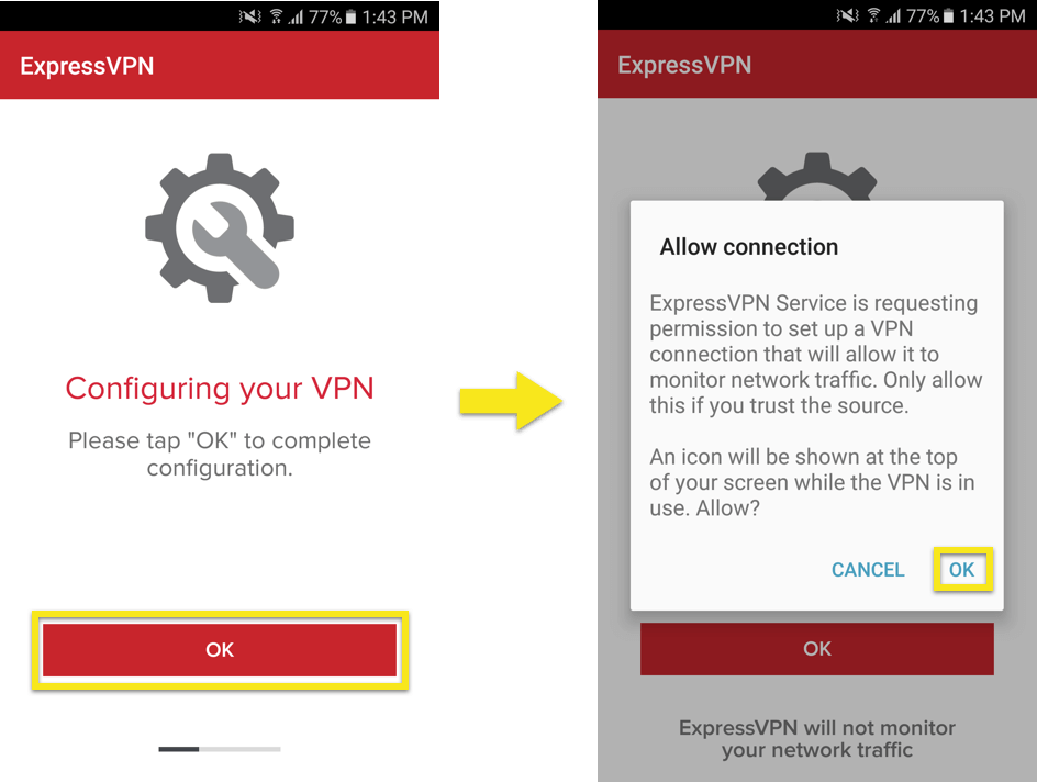 expressvpn android configure
