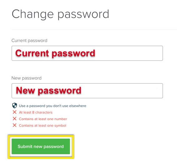 Yeni ExpressVPN şifrenizi girin ve kaydedin.