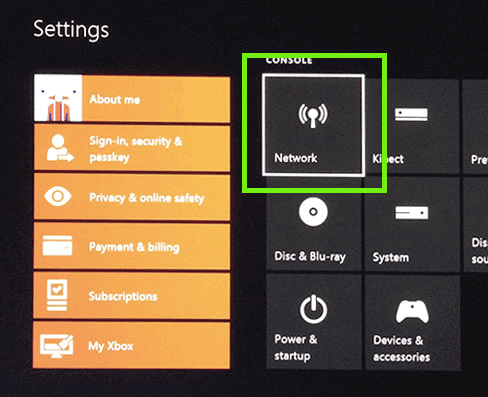 xbox one select network