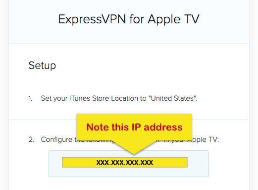 apple tv ip address