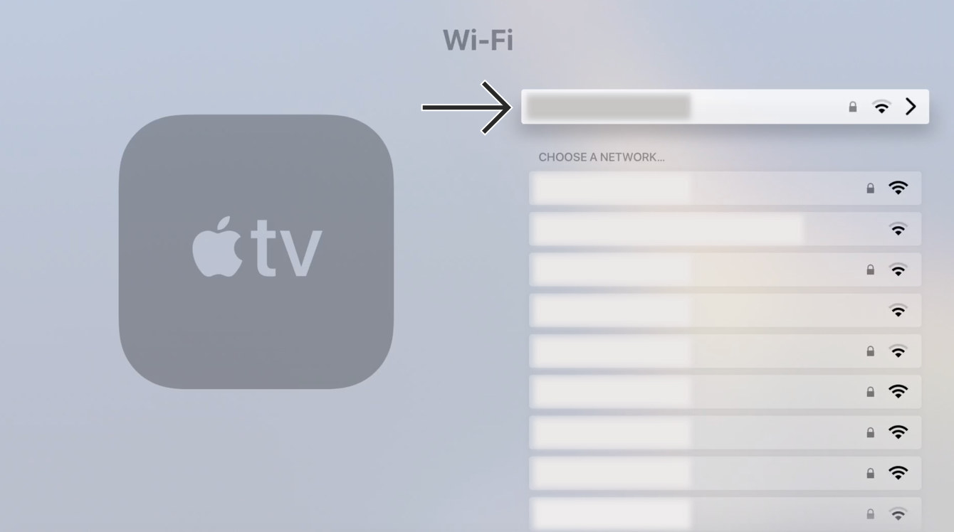 Select your Wi-Fi network to access its settings.