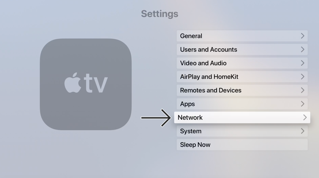 """Select """"Network."""""""