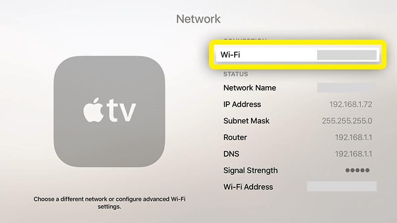 Netzwerk wählen