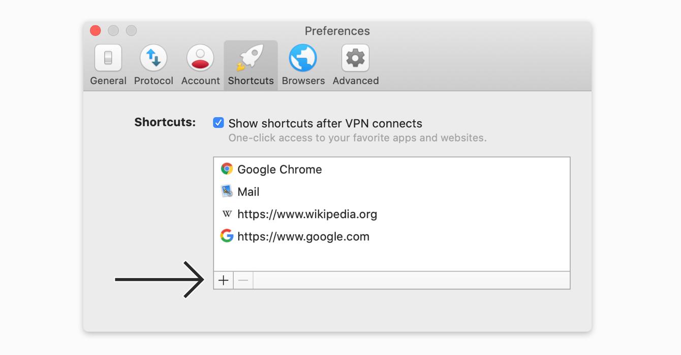 Add a shortcut in the Preferences menu.