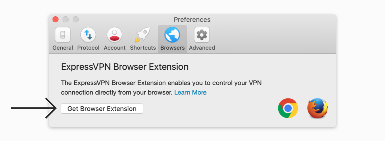 """Click """"Get Browser Extension."""""""