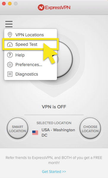 mac speed test
