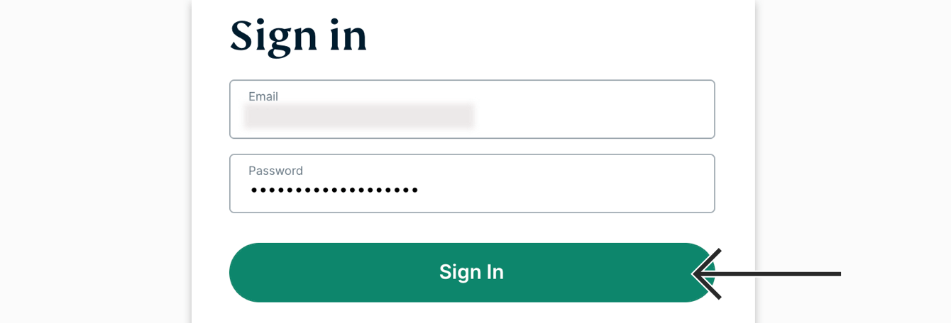 """Enter your account credentials, then click """"Sign In."""""""