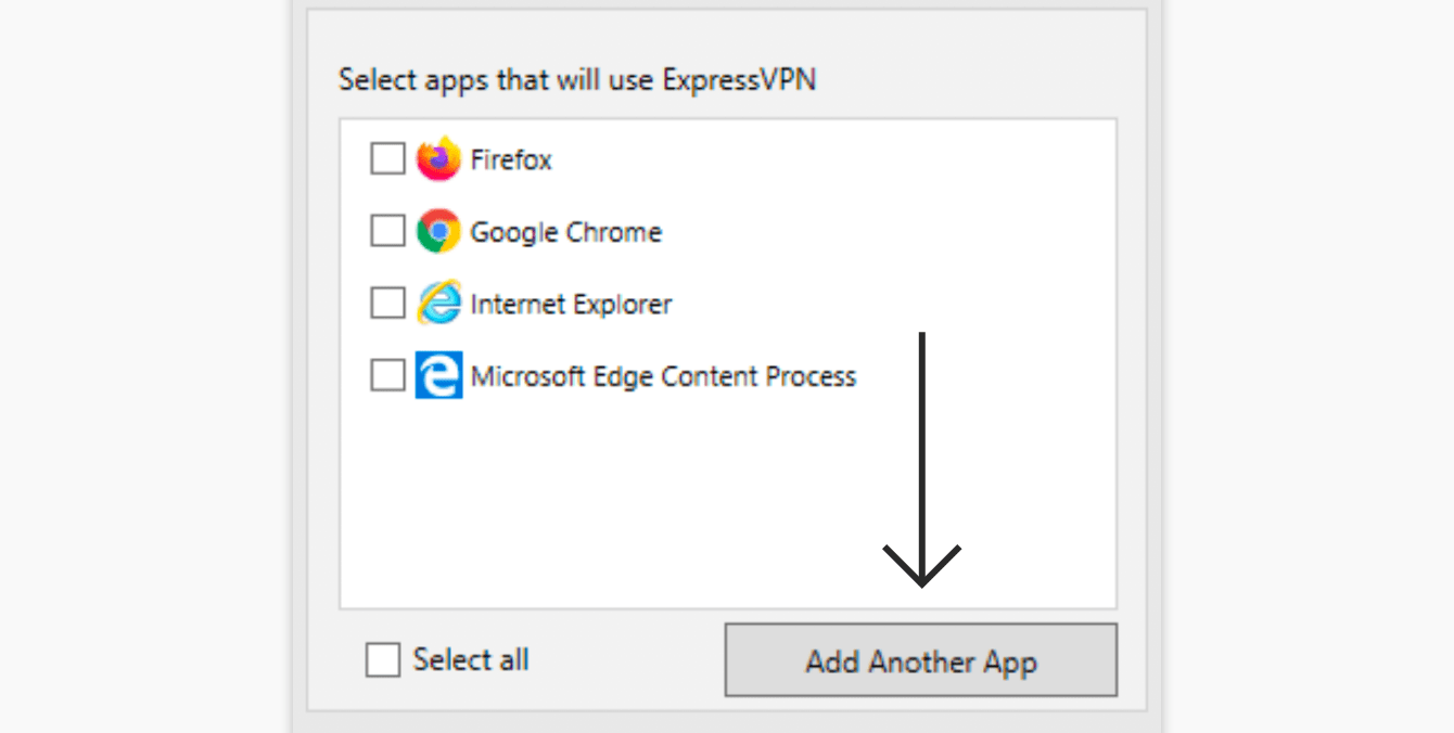 """Click """"Add Another App."""""""