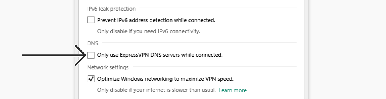 expressvpn windows 10 uncheck only use expressvpn servers while connected - Express Vpn L2tp Server Ip Address