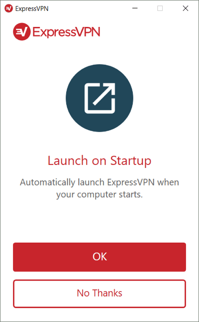 Select whether to launch ExpressVPN upon Windows startup.
