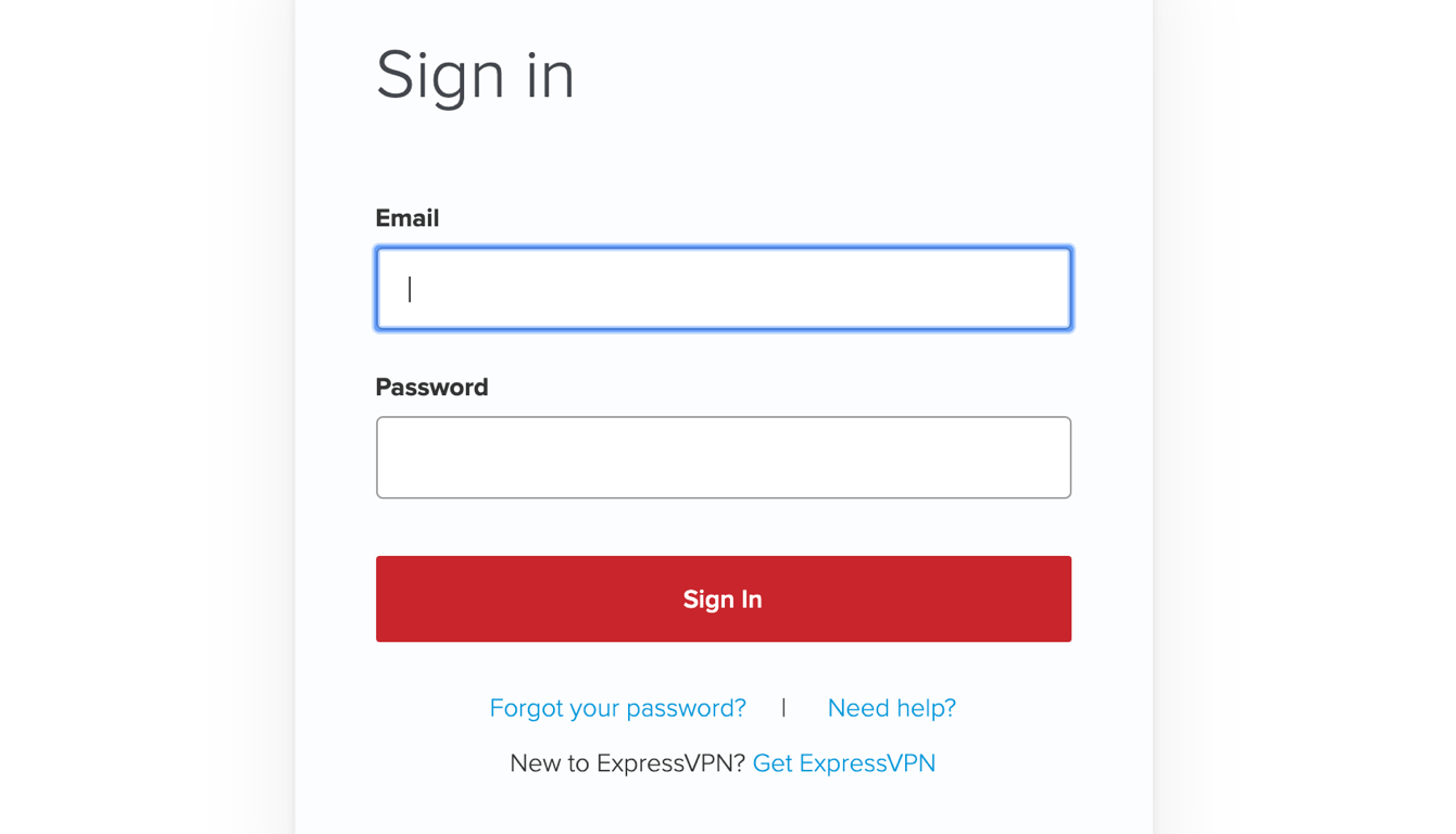 Sign in to the ExpressVPN app.
