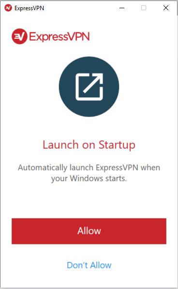 expressvpn windows启动时启动