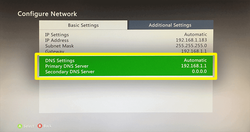 go to the dns settings