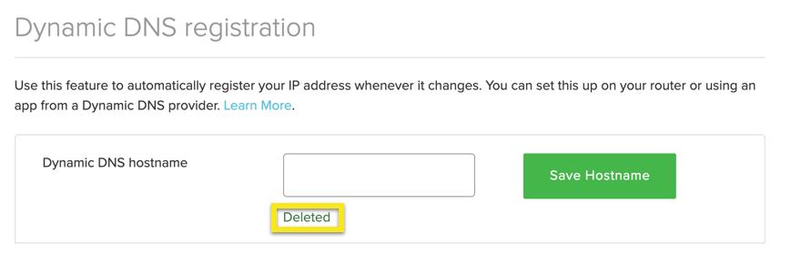 O nome de host foi excluído.