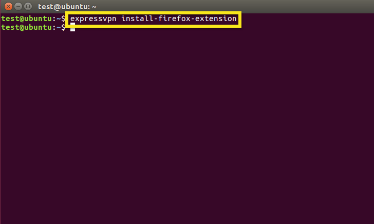 Terminal with install extension command highlighted.