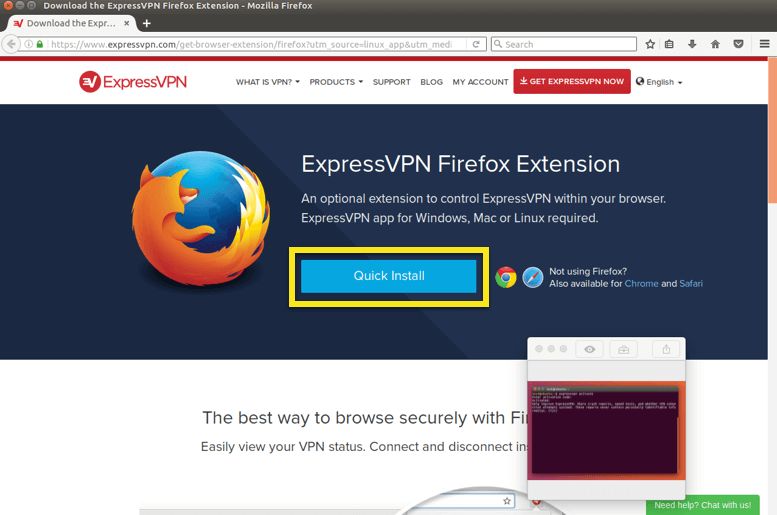 quick install extension linux