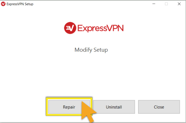 repair expressvpn