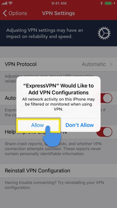 expressvpn ios add configrations