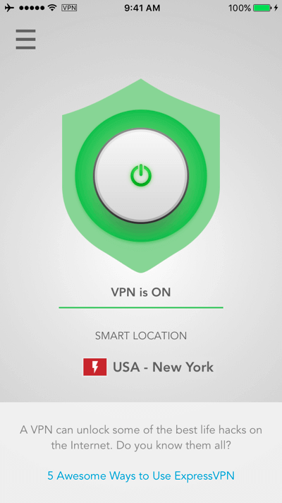 expressvpn ios connected smart