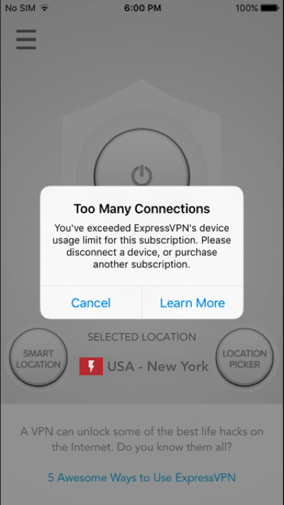 expressvpn iphone too many