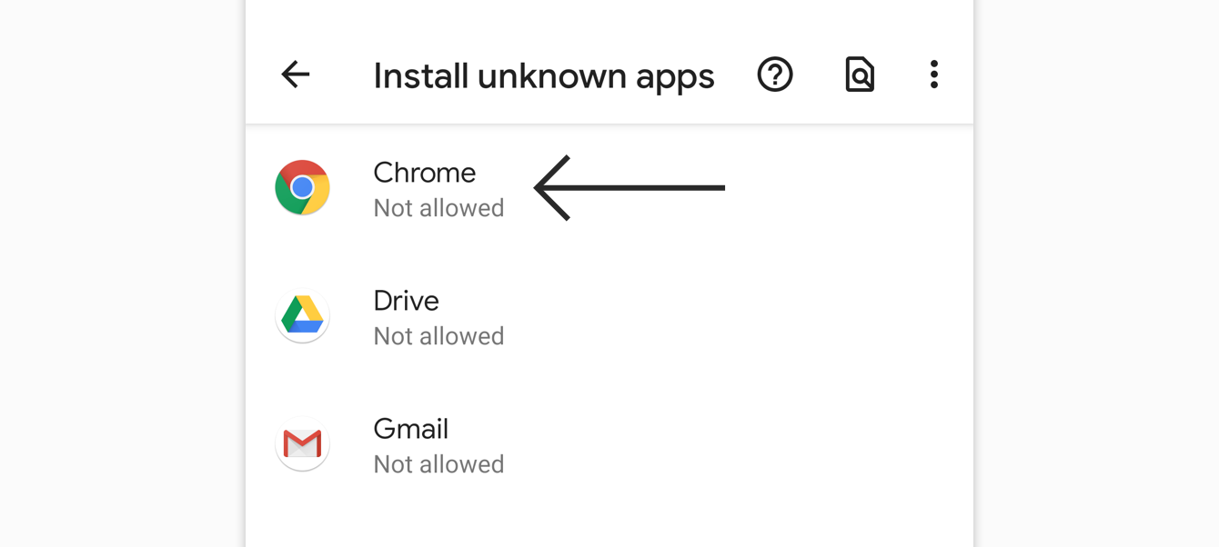Select the browser you want to download the APK from.
