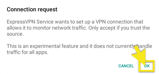 allow connection request