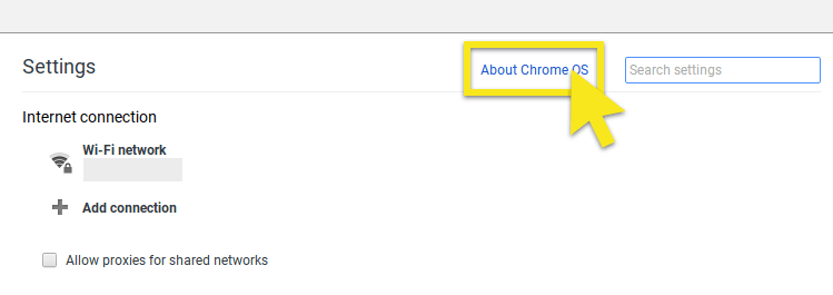 click about chrome os