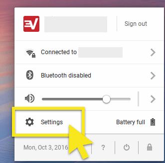 click chromebook settings