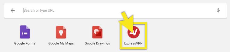 click on expressvpn app icon