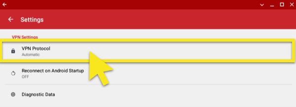 click on vpn protocol