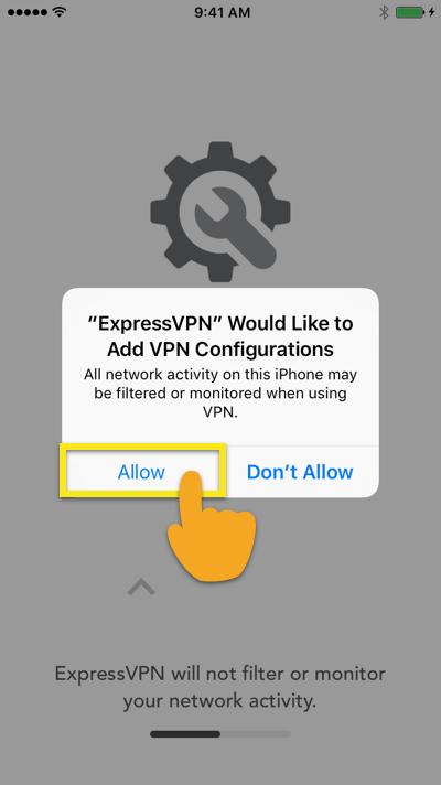 allow expressvpn configuration ios