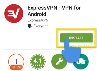 Schermata Google Play Store con il pulsante Installa evidenziato.