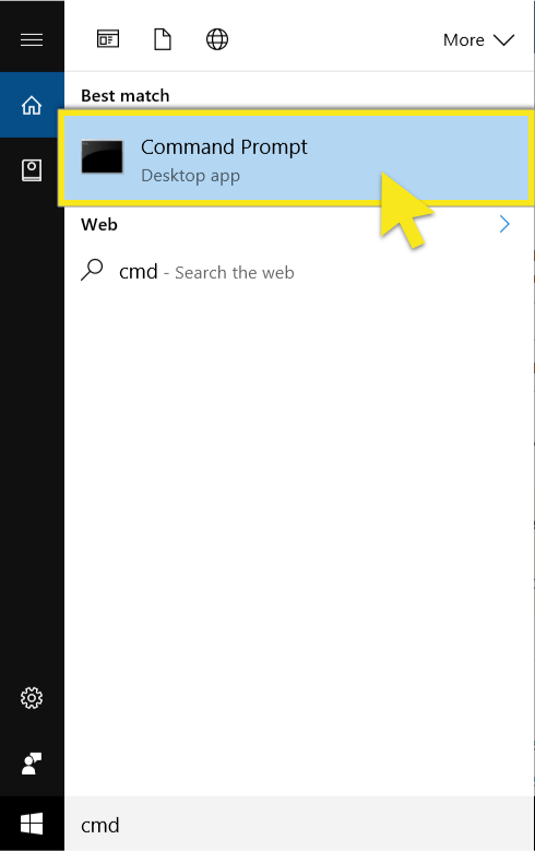 windows search cmd
