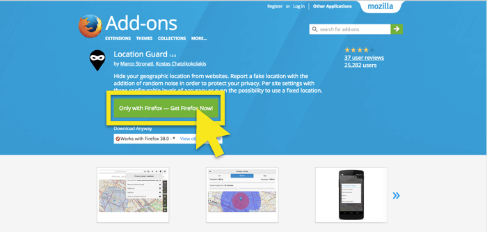 get location guard for firefox