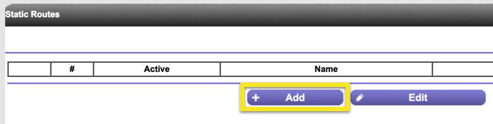 netgear add static routes