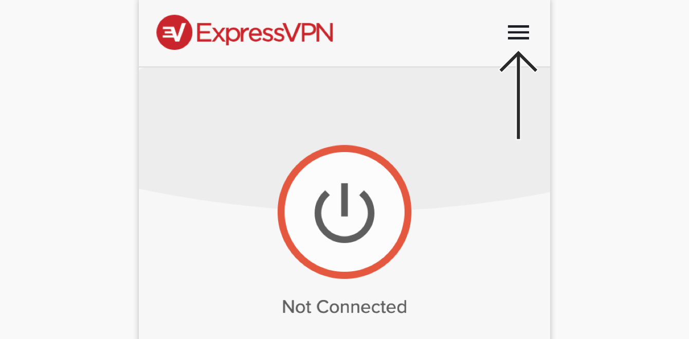 Click the hamburger menu in the ExpressVPN browser extension.