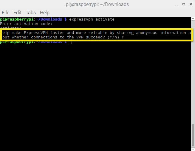 Raspbian ExpressVPN Analyse
