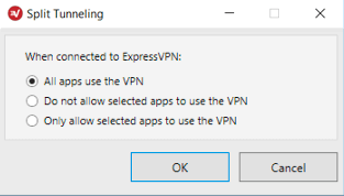 How to Use the Split Tunneling Feature | ExpressVPN