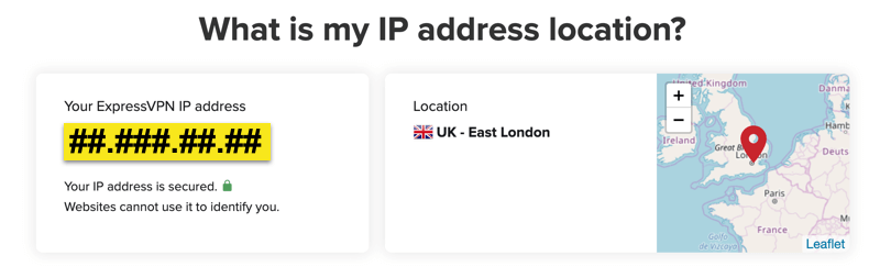 Brug IP-tjekkersiden til at bekræfte din IP-adresse.