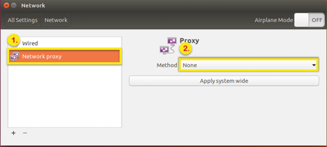 select no proxy