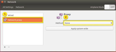 select no proxy