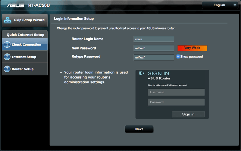 inserire password temporanea