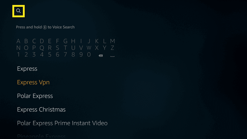 fire tv search expressvpn