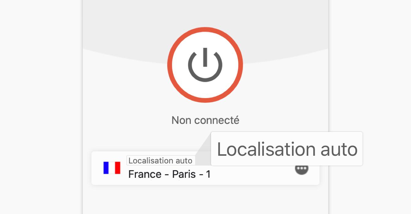 La fonction localisation automatique recommande la localisation optimale pour vous.