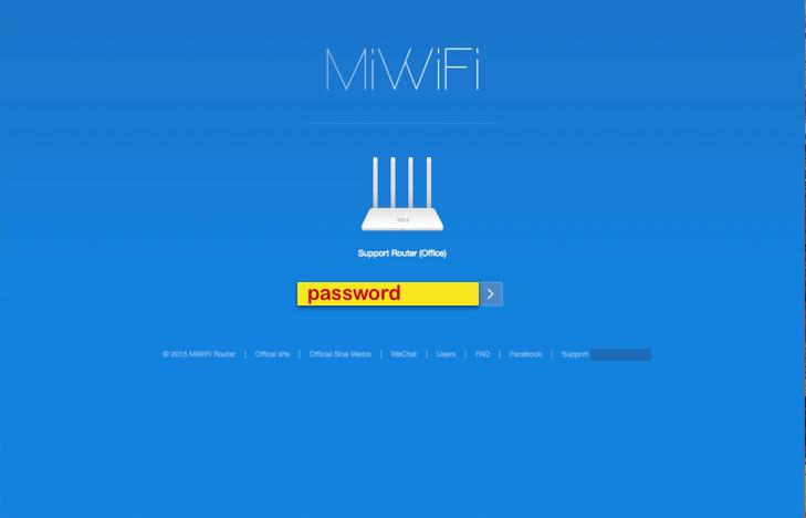 miwifi login